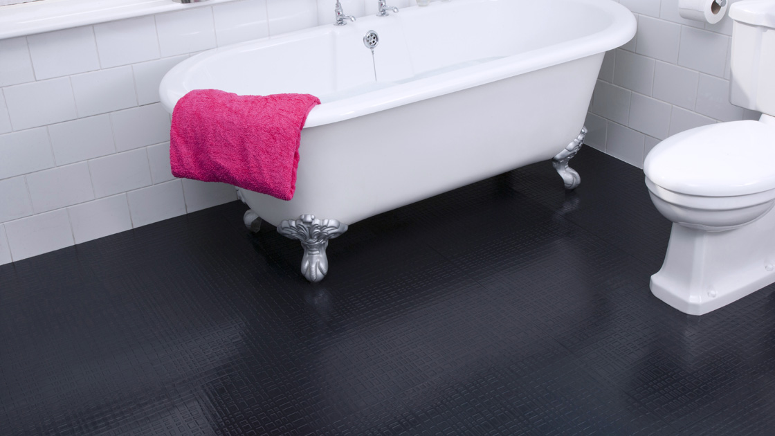 Rubber Bathroom Floor Tiles