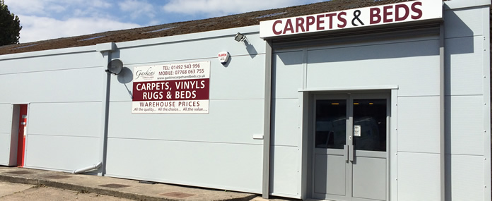Gaskins Carpets and Beds Showroom